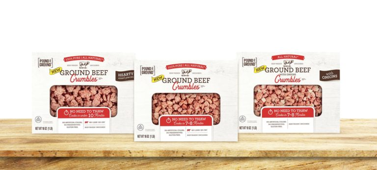 ground beef crumble packages